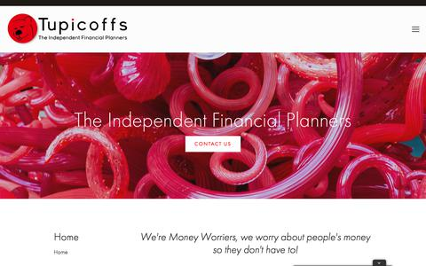 Screenshot of Home Page tupicoffs.com.au - Tupicoffs, The Independent Financial Planners - captured June 18, 2017