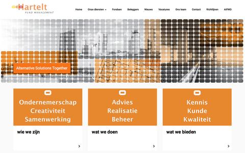 Screenshot of Home Page hartelt-fm.com - Homepage - captured Oct. 28, 2016