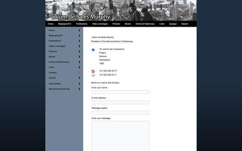 Screenshot of Contact Page colum-de-sales-murphy.com - Contact - captured June 10, 2016