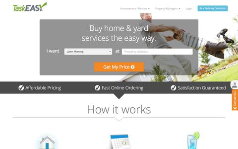 Screenshot of Home Page taskeasy.com - TaskEasy. Affordable professional home maintenance services! - captured Feb. 21, 2016