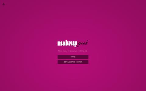 Screenshot of Login Page makeupgeek.com - Log In – Makeup Geek - captured Oct. 29, 2014
