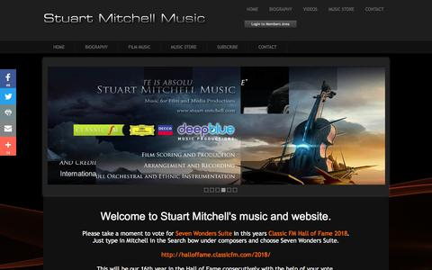 Screenshot of Home Page stuart-mitchell.com - Stuart Mitchell, Composer and Pianist of Contemporary Music - captured Feb. 24, 2018