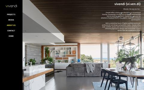 Screenshot of About Page vivendi.com.au - About Us - Vivendi - captured April 3, 2016