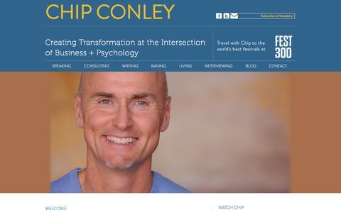 Screenshot of Home Page chipconley.com - Chip Conley - captured April 19, 2016