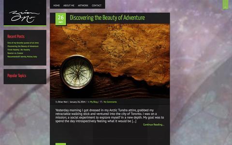 Screenshot of Home Page briannori.com - Brian Nori | Homepage - captured Oct. 5, 2014