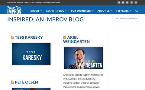 Screenshot of Blog finestcityimprov.com - Inspired: An Improv Blog | Finest City Improv - captured Nov. 17, 2019