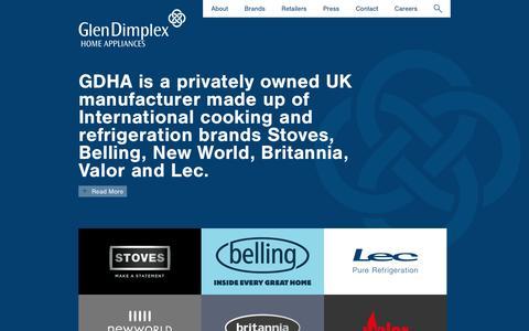 Screenshot of Home Page gdha.com - GDHA - captured Feb. 24, 2018