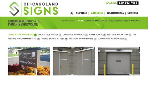 Screenshot of Case Studies Page chicagolandsigns.com - Chicagoland Signs  Extreme Makeovers - Full Property Sign Package - Chicagoland Signs - captured Nov. 5, 2016