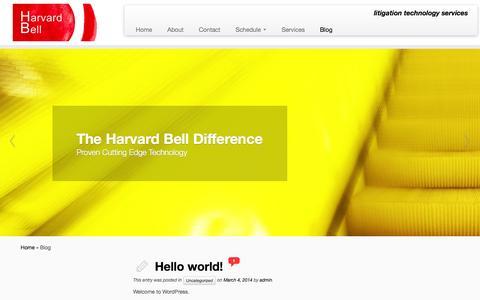 Screenshot of Blog harvardbell.com - Blog | Harvard Bell - captured Sept. 29, 2014