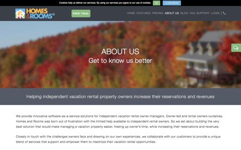 Screenshot of About Page homesandrooms.com - About Us - Homes and Rooms - captured Dec. 12, 2015