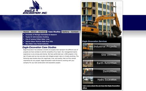 Screenshot of Case Studies Page eagleexcavation.com - Case Studies - captured Oct. 1, 2014