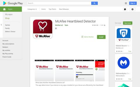McAfee Heartbleed Detector - Apps on Google Play