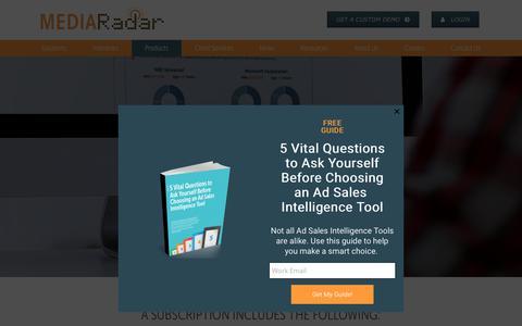 Screenshot of Products Page mediaradar.com - MediaRadar Ad Sales Tool   MediaRadar - captured Oct. 14, 2017