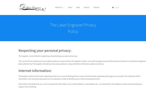 Screenshot of Privacy Page thelaserengraver.com.au - We will not sell your details to a third party. - The Laser Engraver - captured June 15, 2017