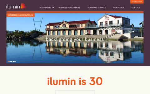Screenshot of Home Page ilumin.co.nz - - ilumin Accountants - captured Oct. 13, 2018