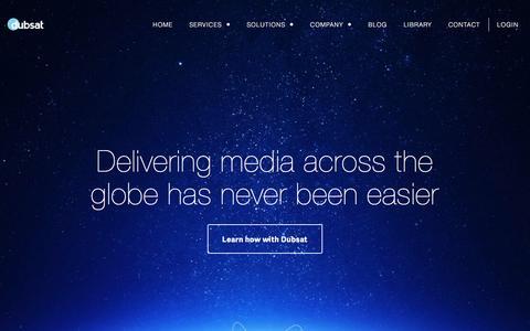 Screenshot of Home Page dubsat.com - Dubsat - captured Sept. 5, 2016