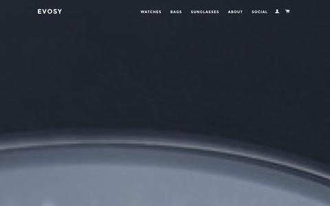 Screenshot of Home Page evosy.com - EVOSY Affordable Luxury Accessories - captured Dec. 21, 2015