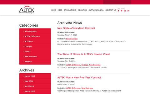 Screenshot of Press Page al-tekinc.com - News – ALTEK Information Technology - captured Oct. 2, 2018