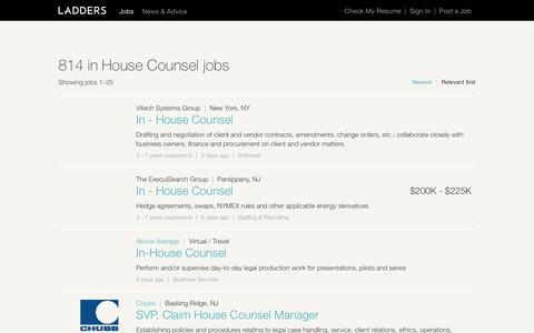 in House Counsel Jobs | Ladders