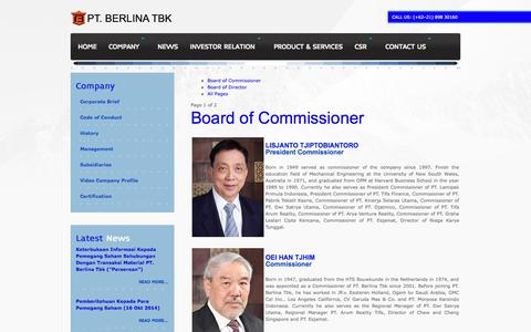 Screenshot of Team Page berlina.co.id - Management - captured Nov. 5, 2014
