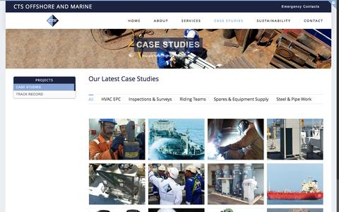 Screenshot of Case Studies Page ctsom.com - Case Studies | CTS Offshore and Marine Limited - captured Oct. 13, 2016