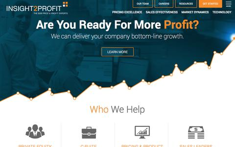 Screenshot of Jobs Page priceforprofit.com - Pricing & Profit Experts | INSIGHT2PROFIT - captured Oct. 3, 2014