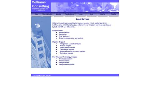 Screenshot of Terms Page williams-consulting.com - Legal - Williams-Consulting - captured Oct. 7, 2014