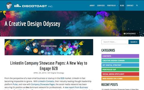 Screenshot of Blog discotoast.com - Blog | Toronto Creative Graphic and Web DesignDiscotoast Inc. | Toronto Creative Graphic and Web Design Agency - captured July 27, 2019