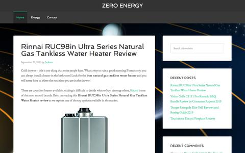 Screenshot of Home Page zeroenergyco.com - Zero Energy - captured Sept. 21, 2019