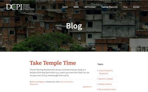 Screenshot of Blog dcpi.org - Blog | Dynamic Church Planting Intl - captured Oct. 9, 2018