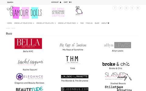 Screenshot of Press Page glamourdollsmakeup.com - Buzz – Glamour Dolls - captured Dec. 9, 2015