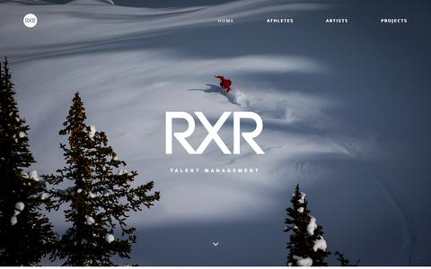 Screenshot of Home Page rxrsports.co - RXR Sports - captured Jan. 22, 2015