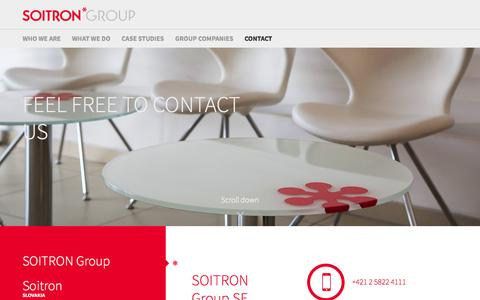 Screenshot of Contact Page soitron.com - Contact - Soitron - captured Aug. 18, 2016