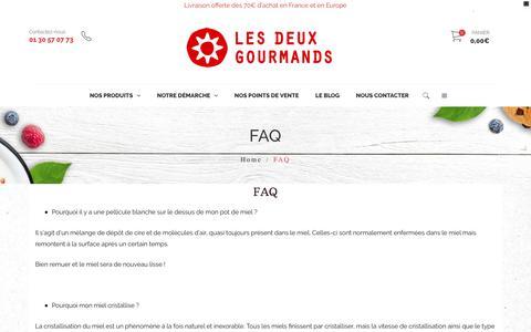 Screenshot of FAQ Page lesdeuxgourmands.fr - FAQ | Les Deux Gourmands - captured Dec. 7, 2018