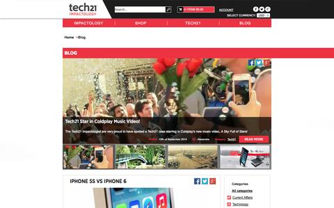 Screenshot of Blog tech21.com - Blog - captured Sept. 19, 2014