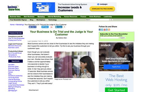Your Business Is On Trial and the Judge Is Your Customer