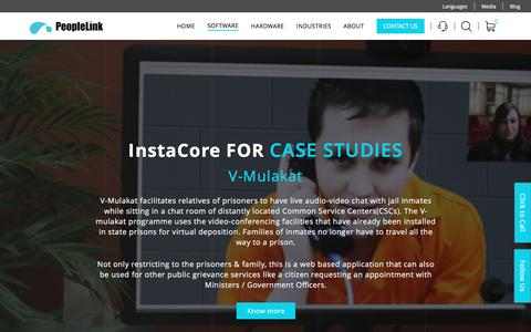 Screenshot of Case Studies Page peoplelinkvc.com - InstaCore case studies | Live Audio video chat - captured July 4, 2018