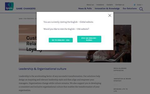 Screenshot of Team Page ipsos.com - Leadership & Organisational culture | Ipsos - captured Aug. 18, 2018