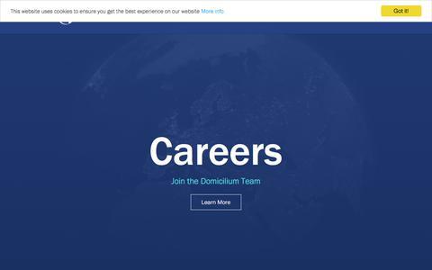 Screenshot of Jobs Page domicilium.com - News - captured Aug. 7, 2018