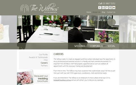 Screenshot of Jobs Page thewillows.com.au - Careers at The Willows | Melbourne - captured Oct. 24, 2017
