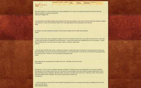 Screenshot of Testimonials Page wahoogrilldecatur.com - Testimonials - Wahoo Grill - captured Oct. 27, 2014