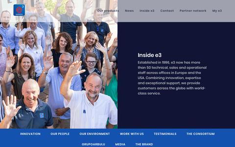 Screenshot of Testimonials Page e3s.com - Testimonials   e3 Systems - captured Dec. 16, 2018