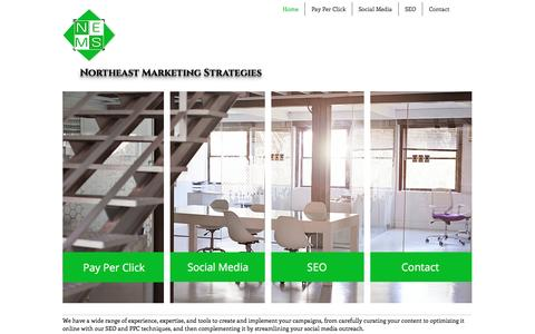 Screenshot of Home Page northeastmarketingstrategies.com - Northeast Marketing Strategies / Historic North End / 617.530.1763 - captured Dec. 9, 2016