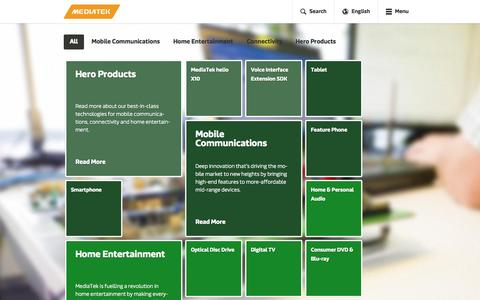 Screenshot of Products Page mediatek.com - Products - MediaTek - captured June 16, 2015