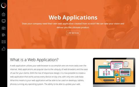 Screenshot of Services Page caputodesign.com - Web Application Development Company - Caputo Design - captured Nov. 19, 2016