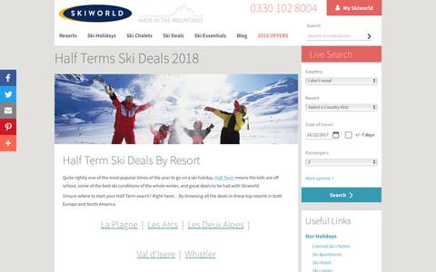 Half Term Ski Deals 2018 | Ski Deals | Skiworld