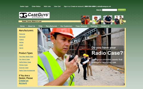 Screenshot of Products Page caseguys.com - Home of the Radio Cases Made to Last - captured Oct. 2, 2014