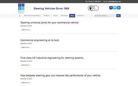 Screenshot of Blog pailton.com - Blog - Pailton Engineering Limited - captured Jan. 24, 2016