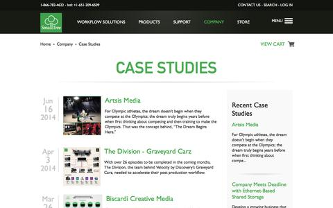 Screenshot of Case Studies Page small-tree.com - Case Studies | High Performance Network Solutions | Page 1 - captured Dec. 6, 2016