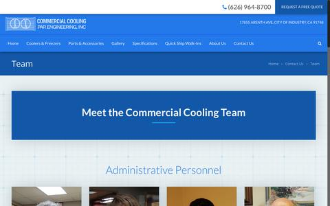 Screenshot of Team Page commercialcooling.com - Team   Commercial Cooling - captured Nov. 10, 2019